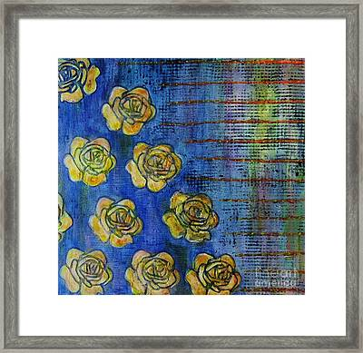 Copper Roses Framed Print by Desiree Paquette