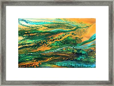 Copper Sea - Horizontal  Framed Print by Carol Cavalaris