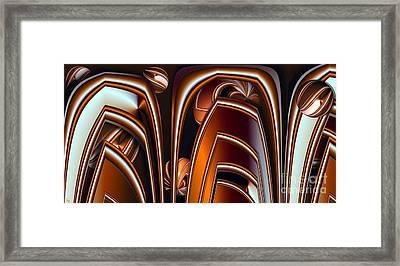 Copper Shields Framed Print