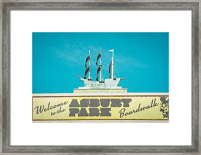 Copper Ship Atop Convention Hall In Asbury Park Framed Print