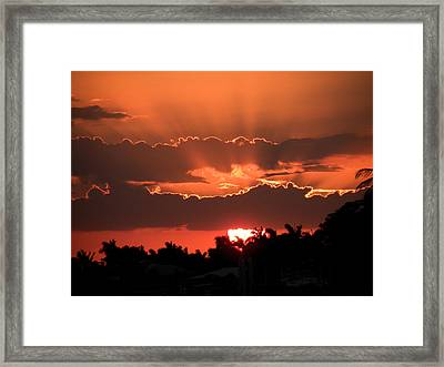 Copper Sunset Framed Print by Rosalie Scanlon