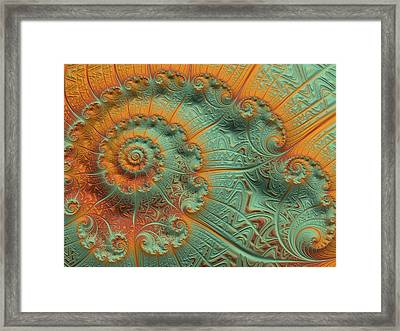 Copper Verdigris Framed Print