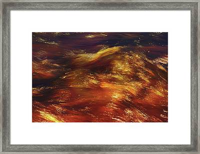 Copper Water Abstract Framed Print by Jenny Rainbow