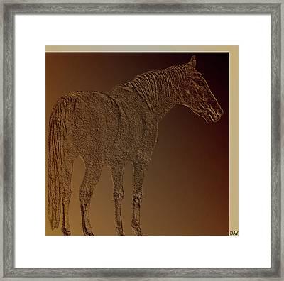 Coppertone Horse Framed Print by Debra     Vatalaro