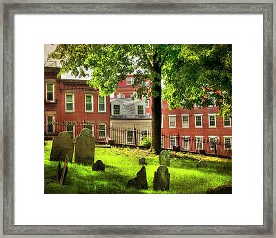 Copp's Hill Burial Ground - North End - Boston Framed Print
