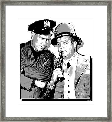 Cops And Robbers Framed Print by Greg Joens