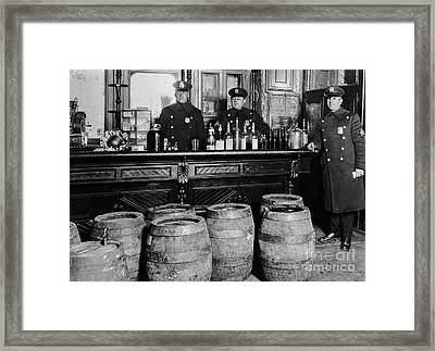 Cops At The Bar Framed Print