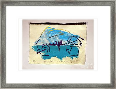 copy of Brendans Saturday Sydney three out of five. Framed Print