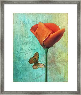 Coquelicot Framed Print