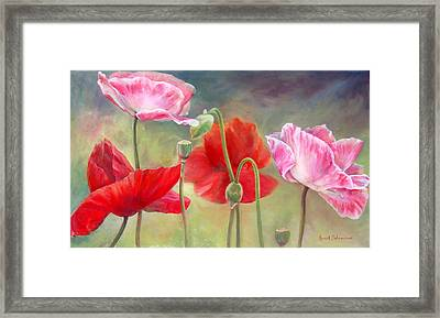 Coquelicots Framed Print by Muriel Dolemieux