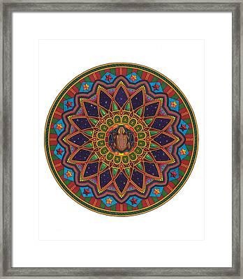 Coqui Mandala Framed Print by Daniel Ramirez