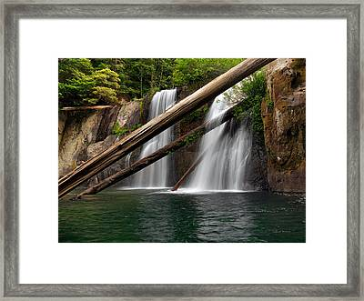 Coquille Falls 2 Framed Print