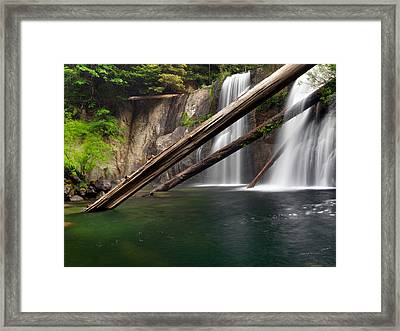 Coquille Falls 4 Framed Print