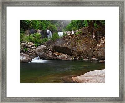 Coquille Falls 6 Framed Print