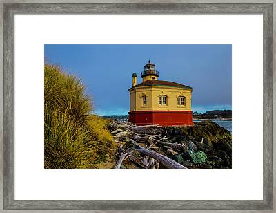 Coquille River 2 Lighthouse Framed Print by Garry Gay