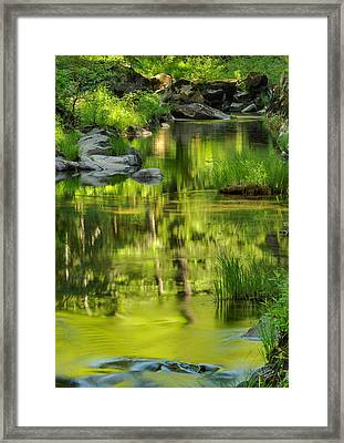 Coquille River Light And Calm. Framed Print