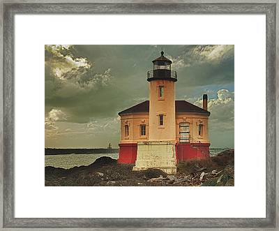 Coquille River Light House Framed Print by Alvin Kroon