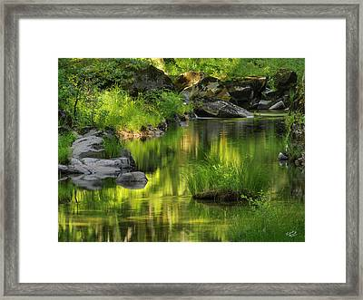 Coquille River Light. Framed Print