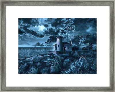 Coquille River Lighthouse 3 Framed Print