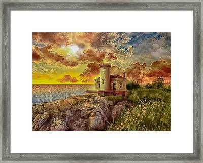 Coquille River Lighthouse 4 Framed Print