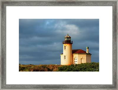 Coquille River Lighthouse  Framed Print
