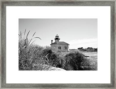 Coquille River Lighthouse - Pov 3 Bw Framed Print