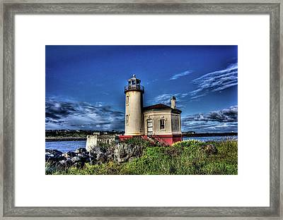 Framed Print featuring the photograph Coquille River Lighthouse by Thom Zehrfeld