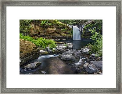 Coquille River Waterfall Framed Print