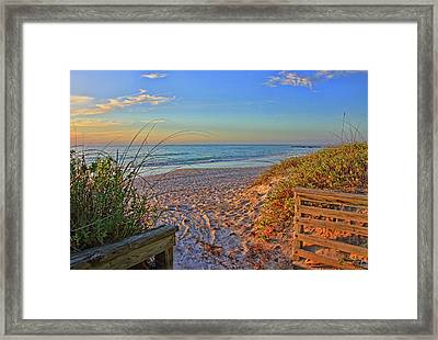 Coquina Beach By H H Photography Of Florida  Framed Print by HH Photography of Florida