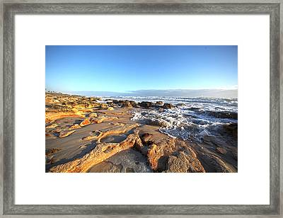 Coquina Carvings Framed Print