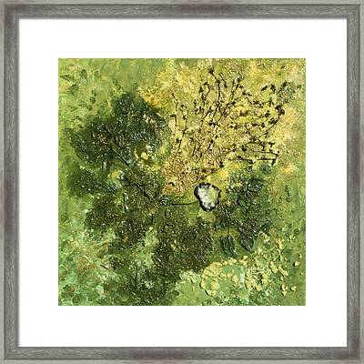 Cor Viride - Green Heart Framed Print by Sora Neva