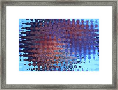 Coral Abstract Framed Print