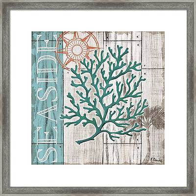 Coral Azul I Framed Print by Paul Brent