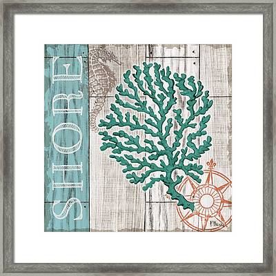 Coral Azul IIi Framed Print by Paul Brent