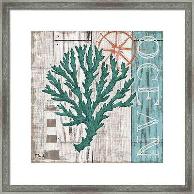 Coral Azul Iv Framed Print by Paul Brent
