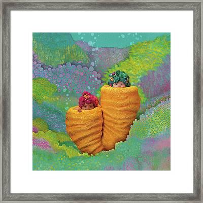 Coral Babies Framed Print