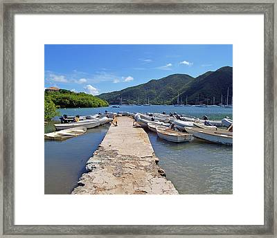 Coral Bay Dinghy Dock Framed Print