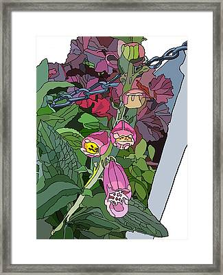 Coral Bells In The Garden Framed Print