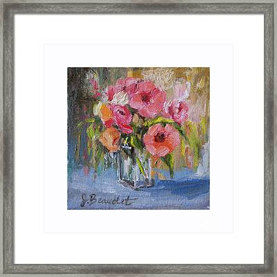 Framed Print featuring the painting Coral Bouquet by Jennifer Beaudet
