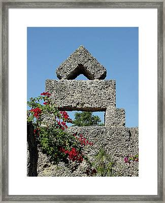 Coral Castle For Love Framed Print by Shirley Heyn