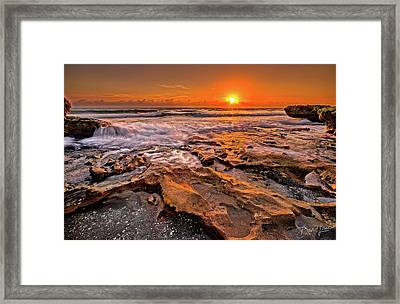 Coral Cove Sun Framed Print
