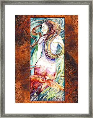 Coral Mermaid Framed Print by Ragen Mendenhall