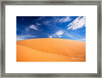 Coral Pink Sand Dunes State Park, Kanab, Utah Framed Print