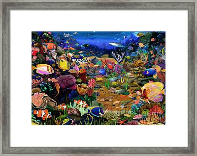 Coral Reef Framed Print by Gerald Newton
