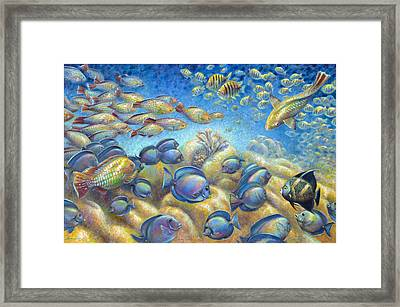 Coral Reef Life Silvers Framed Print