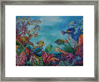 Coral Reef Framed Print by Patti Schermerhorn