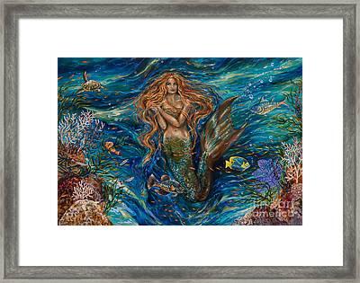 Coral Reef Rhapsody Toggled Framed Print