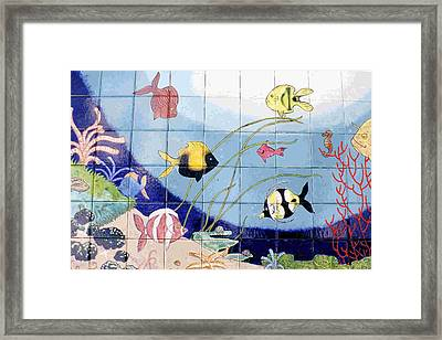 Coral Reef Whimsy Framed Print by Dy Witt