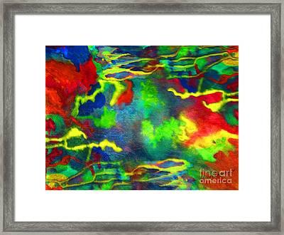 Coral Tides Framed Print