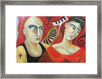 Corazon Pesado Framed Print by Niki Sands